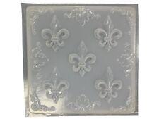 Stone Look Fleur De Lis Plaque Plaster or Concrete Mold 7027 Moldcreations