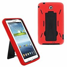 Red Hybrid Cover Case with Stand Screen For Samsung Galaxy Tab 3 7 P3200 T210