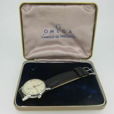 Vintage 1940s WWII Omega 2495-2 Swiss 17J 30T2PC SS Watch with Box