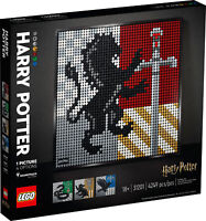 31201 LEGO Art Harry Potter Hogwarts Crests Tile Mosaic Set 4249 Pieces Age 18+