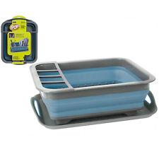 Summit Pop Folding Dish Cutlery Cup Drainer Kitchen Rack Plates Holder Drip Tray