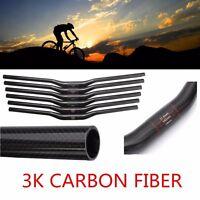 3K Full Carbon Fiber/Matt Handlebar MTB Bike 31.8mm Dia Flat/Riser Bar Cycling