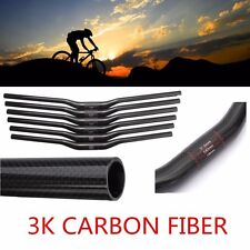 3K Full Carbon Fiber/Matt Handlebar MTB Bike 31.8mm Dia Flat/Riser Bar Cycling