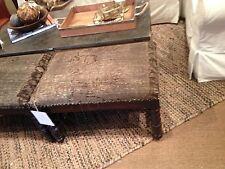 Pottery Barn Rug Top Stool Wood Bench Footstool Ottoman Spindel Leg New