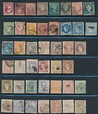 1853-1878 Spain **(43) VERY EARLY ISSUES**; CV $270
