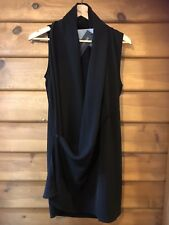 Morgan Marks Wrap Top - Black - Size M (12)