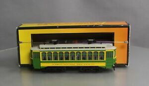 MTH 30-5169-1 O-27 Chicago New Jersey Brill Trolley with PS3 #18 EX/Box