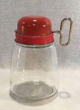Vintage Federal Housewares Orange Glass Turn Key Nut Spice Grinder Chopper-16113