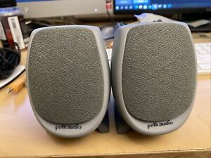 Polk Audio Computer Speakers Gray Laptop PC iPod MP3 Player 000M-3A2-0 2.D1