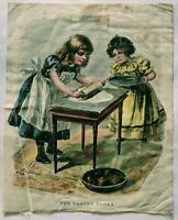 """Vintage McLaughlin Bros linen print """"The Pastry Cooks"""""""