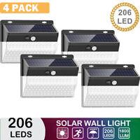 Waterproof 206LED Solar Powered Garden Light Outdoor Yard Lamp PIR Motion Sensor