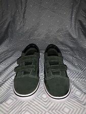 Vans Old Skool V Suede Toddler Shoes Army Grn/Blk Size 10 Pre-Owned