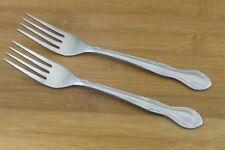 """2 TWO Oneida Melinda Dinner Forks 7 3/8"""" VGC Stainless Flatware Silverware"""