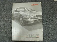 1989 Acura Legend Coupe Shop Service Repair Manual Book L LS FWD 2.7L V6