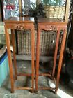 Pair  Chinese tall rosewood stands with drawer vase urn plant table Syracuse NY