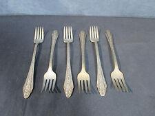 International Silver Flatware Silverplate Grill Forks Modern Rose Vtg 1949 Set 6