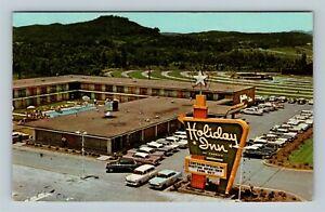 Oak Ridge TN, Holiday Inn, Chrome Tennessee c1969 Postcard