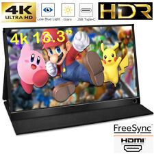 """13.3"""" IPS 4K Portable Display Computer External LCD Screen for PS4/Switch 60Hz"""