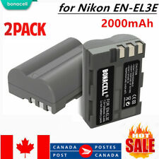 2× Battery for Nikon EN-EL3E D700 D300 D200 D100 D90 D80 D80S D70 D70S D50 2.0Ah