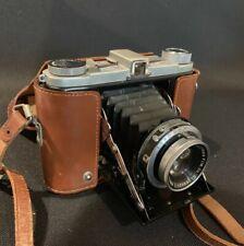 Vintage Fuijca Six II Camera Fuji Folding Film 6X6 Spring Case Rector 1:35 f=7.5