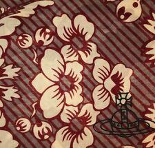 Vivienne Westwood Handkerchief / Scarf / Foulard - Flowers & Stripes 50cm x 50cm