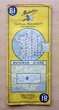 Carte MICHELIN -   AVIGNON - DIGNE   - 1968- N°  81