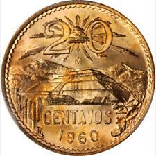 1960 Mexico 20 Centavos, PCGS MS 65 Red, Superb Example