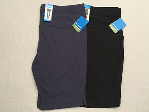 COLUMBIA (AW4591) Women's Black or Blue Anytime Outdoor Long Shorts, Size 22Wx13