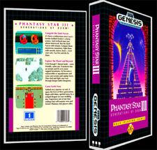 Phantasy Star 3 - Sega Genesis Reproduction Art Case/Box No Game.