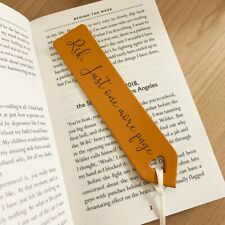 Personalised Quality Leather Bookmark Gift for Reader Birthday Kids Adult  L1883