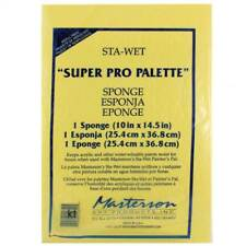 """MASTERSON sta-Wet Stay Wet """"SUPER PRO Tavolozza"""" SPUGNA - 25.4x36.8cm"""