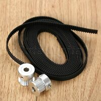 2Pcs Aluminum Timing Pulley & 2M GT2 Open Timing Belt 6mm Width for 3D Printer