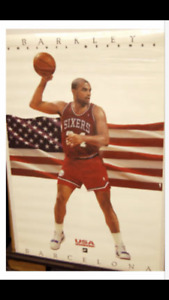 Charles Barkley Nike Dream Team uncivil defense poster rare