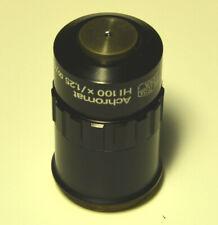Carl Zeiss Jena Mikroskop Objektiv - Achromat HI 100x /1.25 oo/0.17-A  M25