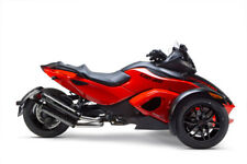 2008-2012 CanAm Spyder RS Two Brothers Carbon Fiber Slip On Exhaust Black Series