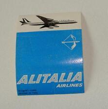 ORIGINAL 1960s ALITALIA AIR LINES FLIGHT - BAGGAGE STICKER - UNUSED