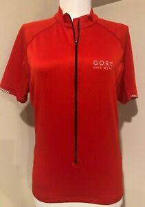 GORE BIKE WEAR Womens Red Cycling 3/4 Zip Shirt Jersey NWOT - Sz Small