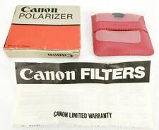 Genuine Canon 55mm Polarizer Filter Polarizing PL Filter Photography Photo Japan