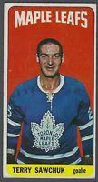 1964-65 Topps Toronto Maple Leafs Hockey Card #6 Terry Sawchuk UER