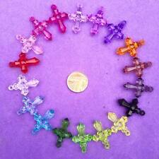 25 x Plastic cross Charms, Key Rings, Jewellery, Crafts, Favours