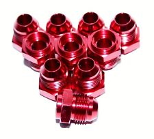 10PC 8AN AN-8 Male Thread Straight Weld on Flare Aluminum Anodized Fitting RED