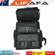 2Pcs Motorcycle Motorbike Luggage SaddleBag Panniers Tool Bag Large Black