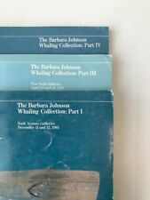LOT OF 3, Barbara Johnson Whaling Collection Catalogs, Sotheby's, I, III, IV