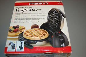 NEW Presto FlipSide Belgian Waffle Maker Nonstick Grid
