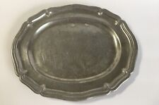 New listing Antique Pewter Country Ware Oval Serving Tray 1924