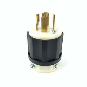 Leviton 2811 Grounding Locking Plug 30 Amp 120/280V 4 Pole 5 Wire