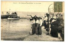 CPA 34 Herault Palavas-les-Flots Les Deux Jetées animé
