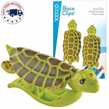 O2Cool Sea Turtle BocaClips, Beach Towel Holders, Clips, Set of Two, Beach, Pati
