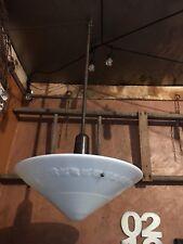 "Antique Art Deco Milk Glass Pendant Lights. 18"" Shades Commercial Size  30 Avail"