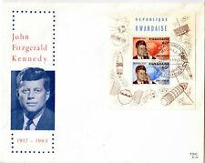 RWANDA FDC 34 - ANNIVERSAIRE DE LA MORT DE J F KENNEDY - 1965 LUXE